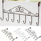 Coat Towel Hanger Cap Rack Home Bathroom Strong Over Door Holder With 7 Hook