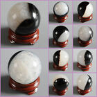 30mm Drusy druzy agate sphere shaped carving decor w/ stand