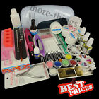 All in One 9W UV Gel Lamp Electric Drill 6 Bits Nail Art Polish TIPS SET KIT 266