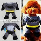 4 Sizes Cotton Batman Outfit Jumpsuit Pants Dree Up Cool Pet Dog Costume Clothes