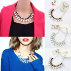 NEW WATERDROP CRYSTAL BUBBLE BIB COLLAR VINTAGE CHUNKY STATEMENT NECKLACE BD9K