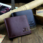 New Fashion Mens Genuine Leather Bifold Wallet Credit/ID Card Holder Slim Purse