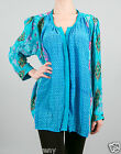 Tolani June Blouse Shirt Tunic in Turquoise 8633