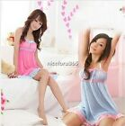 Sexy Lingerie Babydoll Dress Women's Sleepwear Pajama Robe nightgown costume Hot