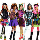 Childrens Girls Monster High Fancy Dress Costume Outfit Halloween Book Week