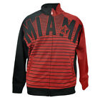 NBA Miami Heat Unk Horizontal Stripe Track Jacket Mens Red Adult Sweater