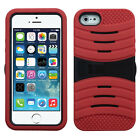 For Apple iPhone 5 5S SE Hard Gel Rubber KICKSTAND Case Phone Cover Accessory
