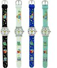 NEW GENEVA KIDS 3D MULTI COLOR OWLS SILICONE BAND,WATER RESISTANT WATCH