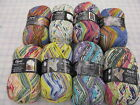 1 skein Opal sock yarn Hundertwasser #2  -75% wool 25% nylon superwash 100g 450y