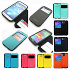 New Shock-proof View Flip Wallet case cover w/magnet lock For Galaxy S4/S5/Note3