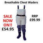 Lineaeffe Vedius Breathable Chest Waders Fly Game Coarse Fishing * ALL SIZES *
