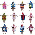 CHARACTER HOODED PONCHO TOWELS – IDEAL FOR BATH, BEACH OR COVER UP 100% COTTON