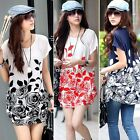 New Women Fashion Ice Silk Dress Loose Suncare Tops Shirt Blouse 4 Colors N4U8