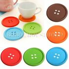 Silicone Button Coaster Cup Cushion Holder Drink Tableware Placemat Colorful Mat