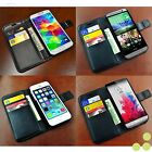 Luxury Wallet Leather Stand Case Cover for iPhone Samsung Galaxy HTC LG