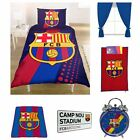 BARCELONA BEDDING AND BEDROOM ACCESSORIES BOYS FOOTBALL NEW