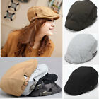 Men Women Beret Cap Cabbie Newsboy Flat Peaked Baker Hat Gatsby Golf Driving