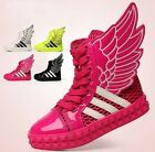 NWT Trendy Kids Boy Girls Casual Wings PU Mesh Sports Shoes Toddler Madden Boots