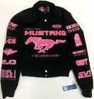 Ford Mustang Jacket Ladies PINK Jacket Embroidered Pink Logos Black Twill NEW