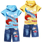 Planes Dusty Skipper Dottie Kids Suits Boys Girls Hoodie Tee+Jeans Shorts Sets
