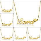 "Pugster 18k Gold Plated Any Name Custom Flower Necklace Box Chain 14"" - 22"""