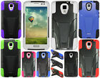 For LG Volt LS740 F90 Advanced HYBRID KICKSTAND Rubber Cover + Screen Protector