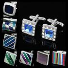 Buy 2 Get 1 Free Simple Design Multi Color Wedding Suit Shirt Men's Cufflinks
