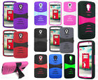 For LG Volt LS740 F90 Hard Gel Rubber KICKSTAND Case Phone Cover Accessory