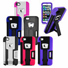 For Apple iPhone 4 4S 5 5S Bottle Opener Credit Card Slot Hybrid Case w/ Stand