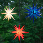 "Christmas Moravian Star 14"" With Incandescent C7 Light 60"" Lead For Hanging"
