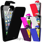 COLOUR PU LEATHER FLIP CASE COVER & LCD PROTECTOR FOR APPLE IPHONE MOBILES