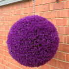 Artificial Purple Heather Balls Topiary Garden Hanging Decorative Grass Boxwood