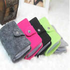 HOT Womens Retro Felted Wool Pouch ID Credit Card Wallet Cash Holder Organizer