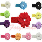 1X Peony Flower Cute Baby Kid Girl Elastic Headband Hairband Hair Clip Headwear