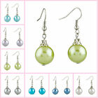 Pugster Fancy Mixed Colors Ball Resin Silver Plated Hook Glam Earrings For Women
