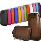 COLOUR (PU) LEATHER PULL TAB POUCH CASES FOR APPLE IPHONE 4S MOBILE PHONES