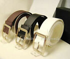 2014 Unisex Hot Fashion Chic PU Leather Buckle Waist Belt Strap Waistband 41.5''
