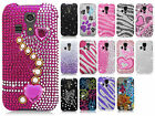 For Kyocera Hydro ICON C6730 Crystal Diamond BLING Case Cover + Screen Protector