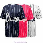 New Womens Ladies Chicago Varsity Stripes American Baseball Jersey Top T-Shirt