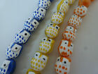 Owl Ceramic Beads  15mm Asst Colours. (2 per purchase) Yellow, Blue, Orange