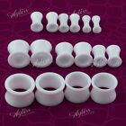 Body Piercing Double Flare Acrylic Hollow Saddle Ear Tunnels Plugs Earlets Gauge