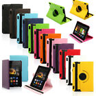 """For 2013 Amazon Kindle Fire HDX 7 7.0"""" 360 Rotating PU Leather Case Stand Cover"""