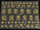 2014 Lots 3D gold Decal Stickers Nail Art Tip DIY Decoration stamping Manicure