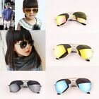 Kids Mirrored Lens Aviator Sunglasses Boy Girls Children Shades UV400 Protection