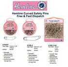 Hemline Nickel Curved Safety Pins Hardened Tempered Quilting Basting FULL RANGE