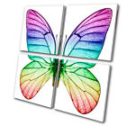 Animals Butterfly MULTI CANVAS WALL ART Picture Print VA