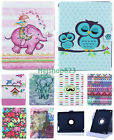 360° Rotating Tablet PU Leather Stand Wallet Case Cover Skin For Samsung Apple