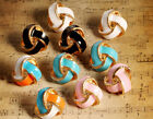 Elegant European Style Lady lacquered Knot Stud Charming Jewelry earring 1 pair