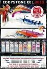 "FISHING LURES EDDYSTONE EEL 2013 -NEW WEIGHTED LURES 4"" 12g / 6"" 24g  / 10"" 104g"