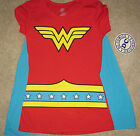 New Wonder Woman shirt with cape womans juniors sizes S-XXL costume cosplay